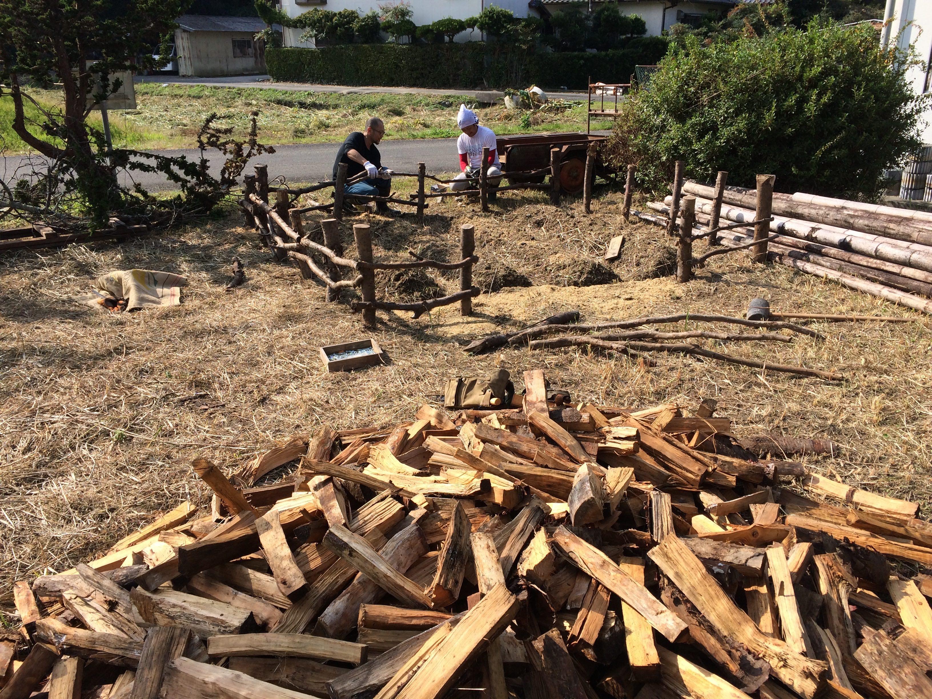 菊川工場庭の畑